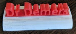 3D Printed Nameplate