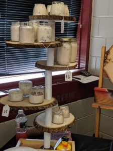 Student Made Candle Display