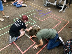 students coloring dash maze