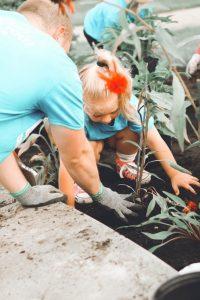 STEM program gardening