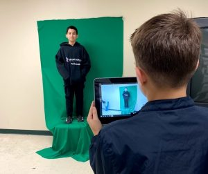 filming on green screens with ipad