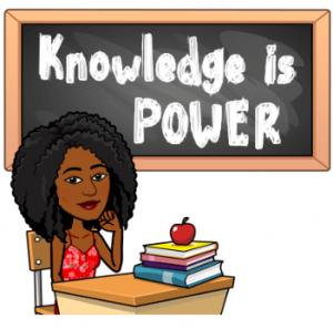 Knowledge is power Bitmoji