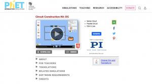 online resource - phet simulation