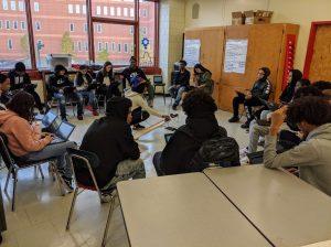 STEM class circle