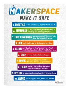 makerspace rules poster