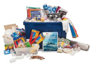 STEM summer program curriculum bins